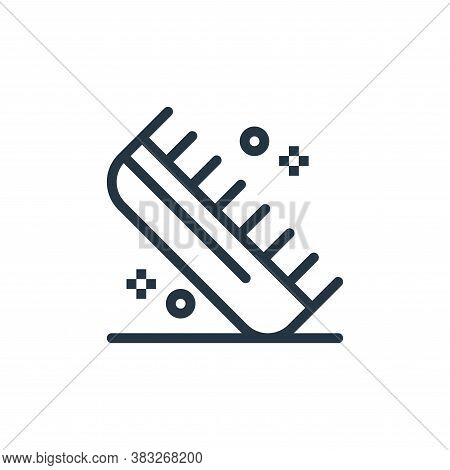comb icon isolated on white background from beauty salon collection. comb icon trendy and modern com