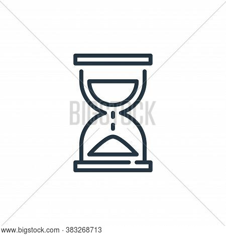hourglass icon isolated on white background from business collection. hourglass icon trendy and mode