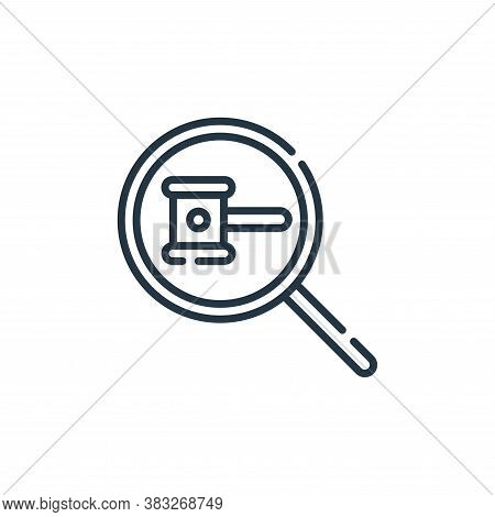 observe icon isolated on white background from auction collection. observe icon trendy and modern ob