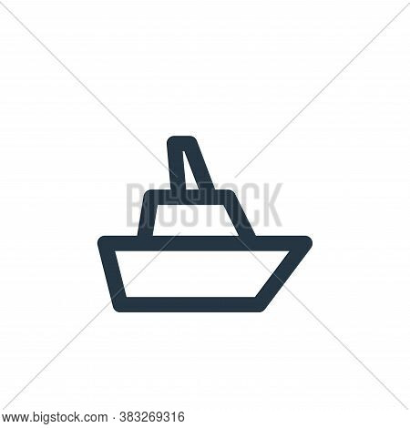 cruise ship icon isolated on white background from sign symbol collection. cruise ship icon trendy a