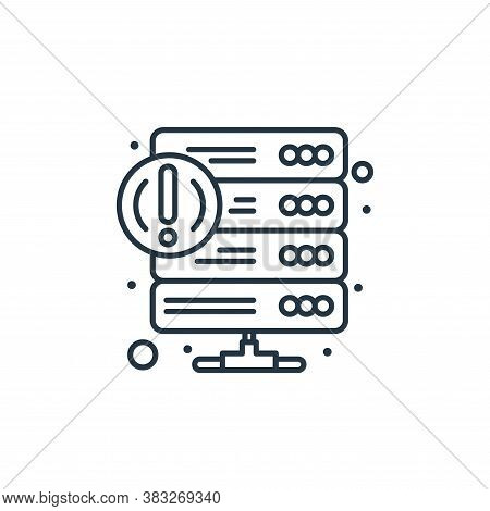 error icon isolated on white background from web hosting collection. error icon trendy and modern er