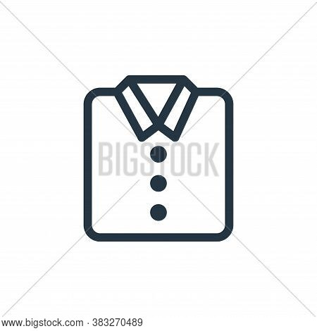 shirt icon isolated on white background from ecommerce line collection. shirt icon trendy and modern