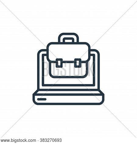 portfolio icon isolated on white background from social media collection. portfolio icon trendy and