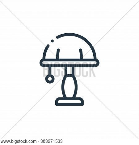 table lamp icon isolated on white background from furniture collection. table lamp icon trendy and m