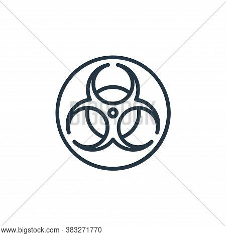 biohazard sign icon isolated on white background from microorganism collection. biohazard sign icon