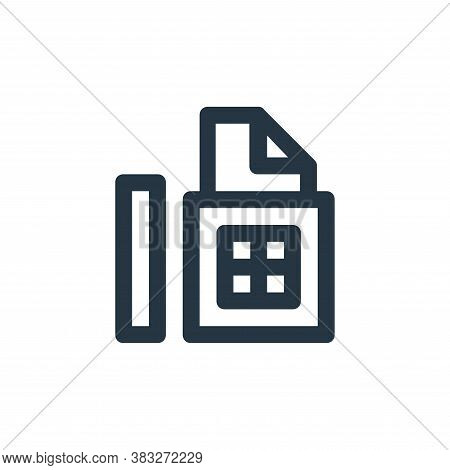fax icon isolated on white background from business and management collection. fax icon trendy and m