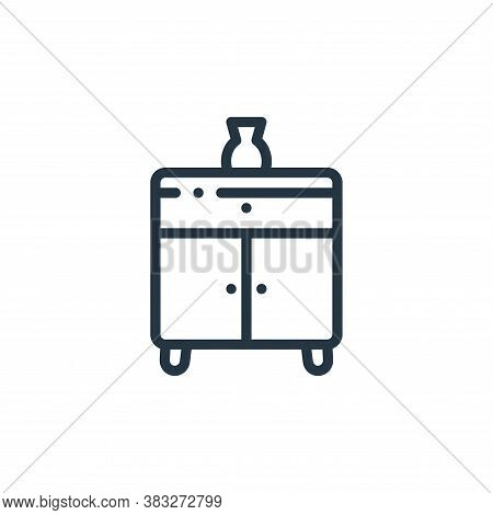 sideboard icon isolated on white background from furniture collection. sideboard icon trendy and mod