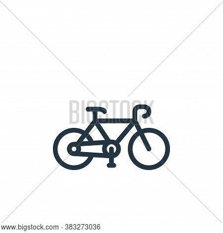 bicycle icon isolated on white background from sports collection. bicycle icon trendy and modern bic