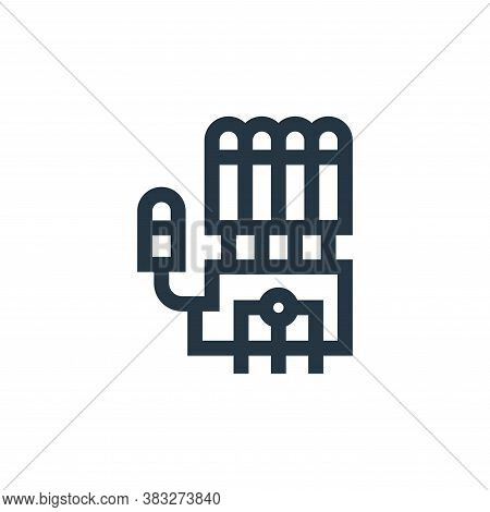 robotic hand icon isolated on white background from futuristic technology collection. robotic hand i