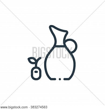 olive oil icon isolated on white background from nutrition collection. olive oil icon trendy and mod