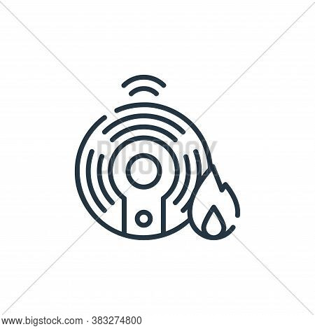 fire alarm icon isolated on white background from smarthome collection. fire alarm icon trendy and m