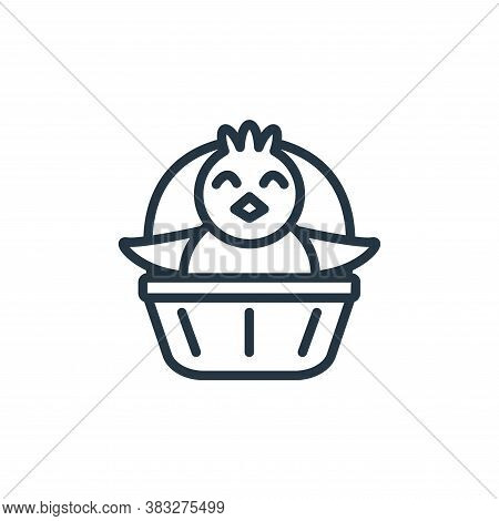 chick icon isolated on white background from easter collection. chick icon trendy and modern chick s