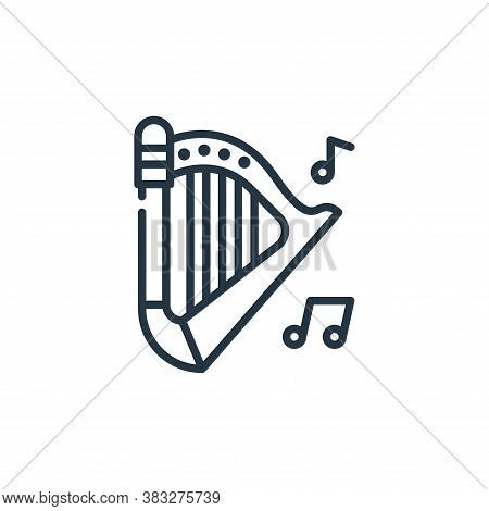 harp icon isolated on white background from st patrick day collection. harp icon trendy and modern h