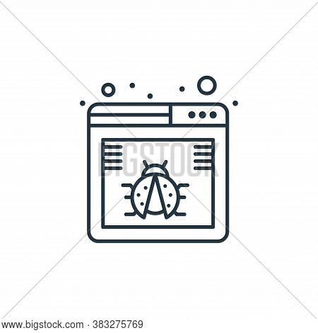 website icon isolated on white background from seo collection. website icon trendy and modern websit