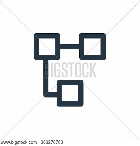 diagram icon isolated on white background from business and management collection. diagram icon tren