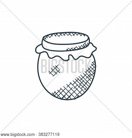honey jar icon isolated on white background from food collection. honey jar icon trendy and modern h