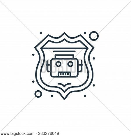 robot icon isolated on white background from web hosting collection. robot icon trendy and modern ro