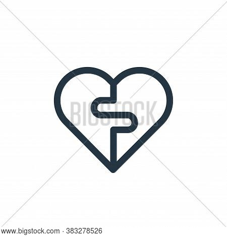broken heart icon isolated on white background from valentines day collection. broken heart icon tre