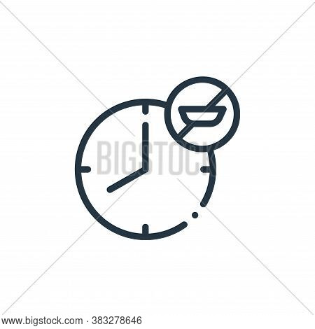 fasting icon isolated on white background from nutrition collection. fasting icon trendy and modern