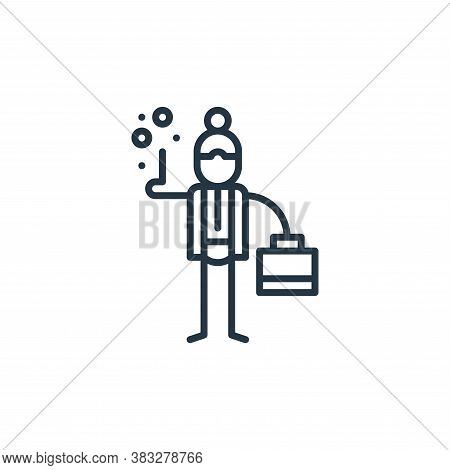 businesswoman icon isolated on white background from graphic design collection. businesswoman icon t