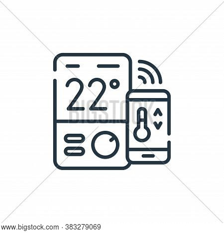 thermostat icon isolated on white background from smarthome collection. thermostat icon trendy and m