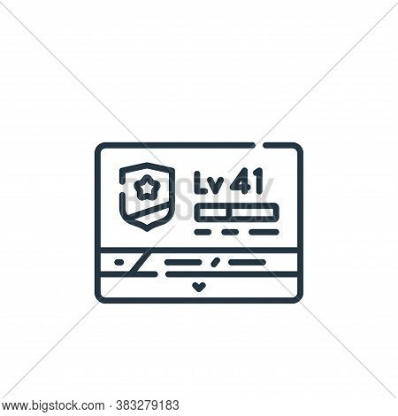 level icon isolated on white background from esports collection. level icon trendy and modern level