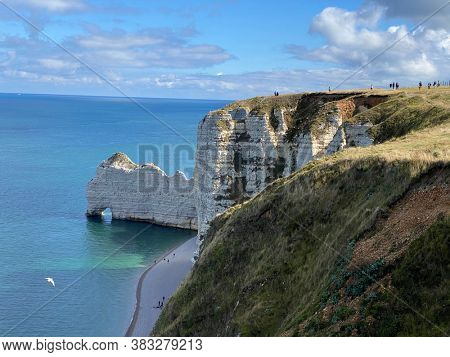 Limestone cliffs at Etretat, French Coast