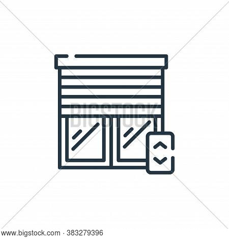 window icon isolated on white background from smarthome collection. window icon trendy and modern wi