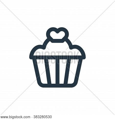 cupcake icon isolated on white background from valentines day collection. cupcake icon trendy and mo