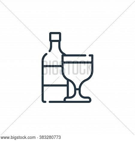 wine icon isolated on white background from friendship collection. wine icon trendy and modern wine