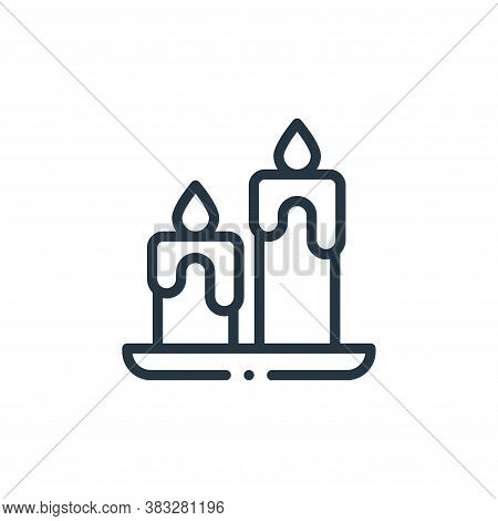 candles icon isolated on white background from magic collection. candles icon trendy and modern cand