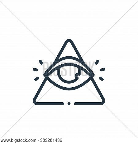 pyramid icon isolated on white background from magic collection. pyramid icon trendy and modern pyra