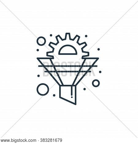 funnel icon isolated on white background from seo collection. funnel icon trendy and modern funnel s