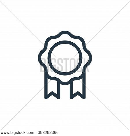 badge icon isolated on white background from ecommerce line collection. badge icon trendy and modern