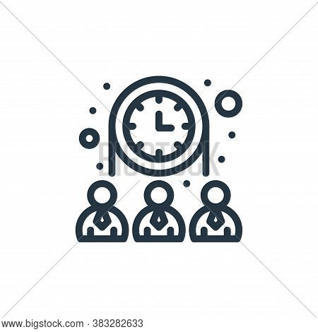 teamwork icon isolated on white background from management collection. teamwork icon trendy and mode