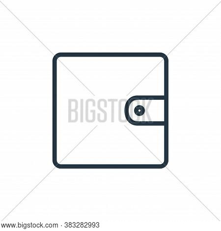 wallet icon isolated on white background from busines and finace collection. wallet icon trendy and