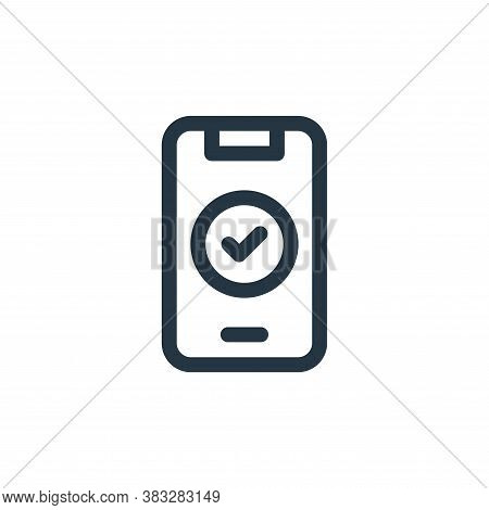 smartphone icon isolated on white background from voting elections collection. smartphone icon trend