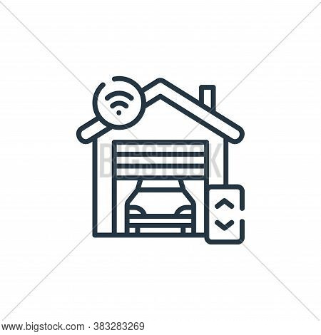 garage icon isolated on white background from smarthome collection. garage icon trendy and modern ga