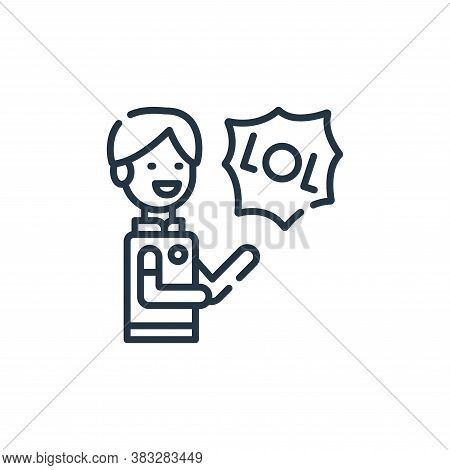 laughing icon isolated on white background from friendship collection. laughing icon trendy and mode
