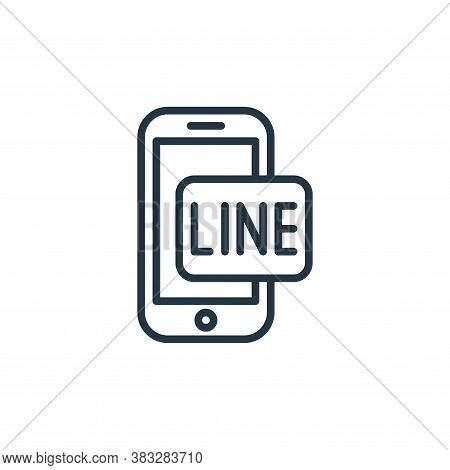 line icon isolated on white background from social media collection. line icon trendy and modern lin