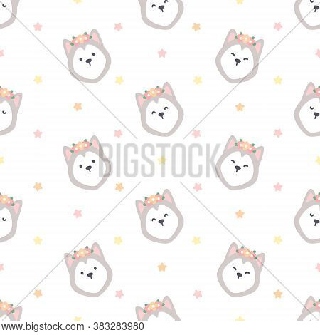 Cute Siberian Husky Vector Photo Free Trial Bigstock