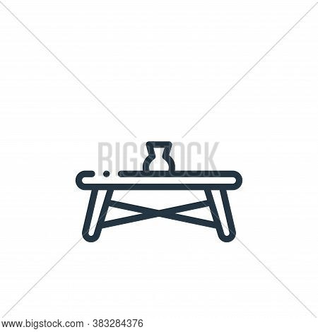 coffee table icon isolated on white background from furniture collection. coffee table icon trendy a