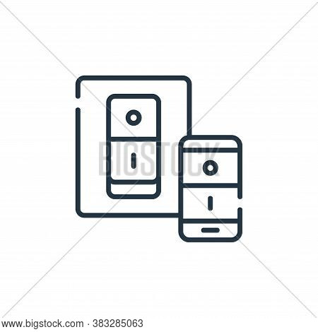 switch icon isolated on white background from smarthome collection. switch icon trendy and modern sw