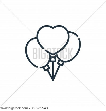 balloons icon isolated on white background from friendship collection. balloons icon trendy and mode