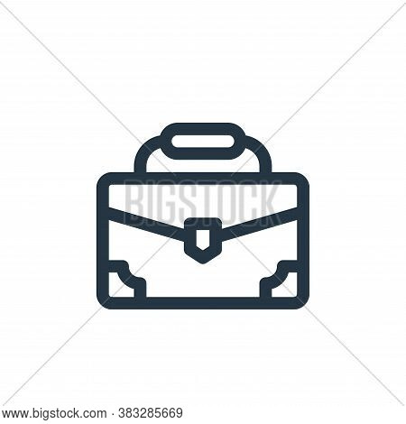 briefcase icon isolated on white background from voting elections collection. briefcase icon trendy