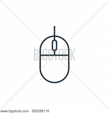 mouse icon isolated on white background from communication collection. mouse icon trendy and modern