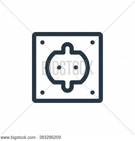 plug icon isolated on white background from nuclear energy collection. plug icon trendy and modern p