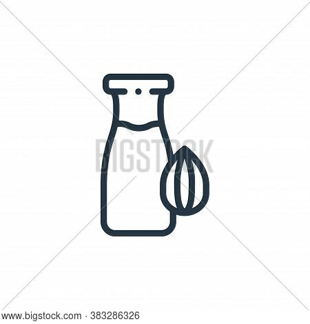 almond milk icon isolated on white background from nutrition collection. almond milk icon trendy and