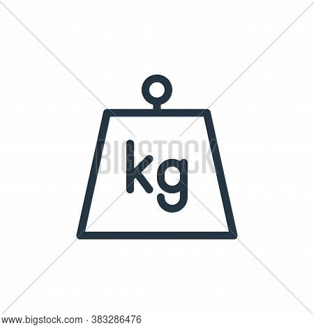 measure icon isolated on white background from ecommerce line collection. measure icon trendy and mo