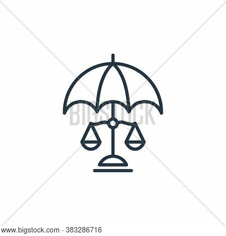 umbrella icon isolated on white background from law collection. umbrella icon trendy and modern umbr